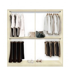 Isa Custom Closet for Hanging Clothes - DOUBLE Double Hanging
