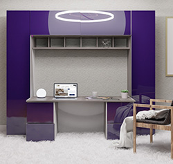 Davidson Desk with Wall Unit Storage