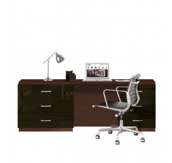 Parkside Executive Desk - Contemporary Office Desk w XL drawers