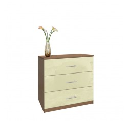 Modern 3 Drawer Dresser - Small Chest of Drawers