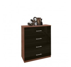 Modern 4 Drawer Dresser - Chest of Drawers