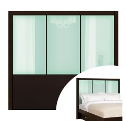 Icicle Colored Glass - Monte Carlo Queen Headboard