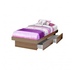 Twin Storage Platform Bed with 4 Drawers