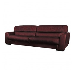 Adrian Sofa - Modern Leather Sofa in Burgundy or Chestnut Leather