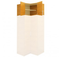 "Extend Your Height +22"" - Alta Wardrobe Storage Topper Corner Unit"