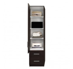 Alta Narrow Storage Closet - Left Door, 2 Exterior Drawers