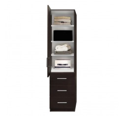Alta Narrow Storage Closet - Left Door, 3 Exterior Drawers