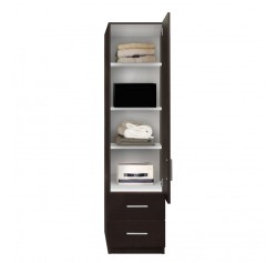Alta Narrow Storage Closet - Right Door, 2 Exterior Drawers