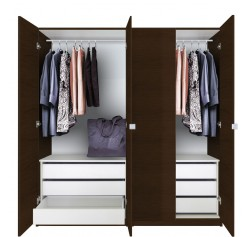 Alta Wardrobe Closet Package - 6 Drawer Wardrobe Package