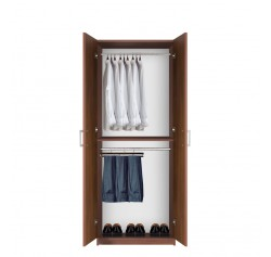 Bella Double Hanging Wardrobe Closet - 2 Hang Rods