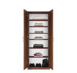 Bella Double Door Wardrobe Cabinet - 6 Shelves