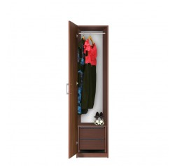 Bella Narrow Closet - Left Opening Door, 2 Interior Drawers