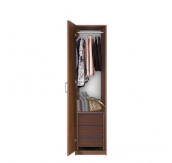 Bella Narrow Closet - Left Opening Door, 3 Interior Drawers