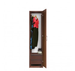 Bella Narrow Closet - Right Opening Door, 2 Interior Drawers