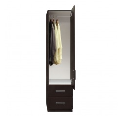 Alta Narrow Wardrobe Closet - Right Door, 2 Exterior Drawers