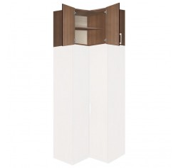 "Extend Your Height +34"" - Bella Wardrobe Storage Topper Corner Unit"