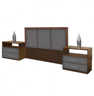 Monte Carlo King Size 3 Piece Bedroom Set