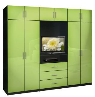 Aventa Bedroom Wall Unit X-Tall - TV Wall Unit w Extra Bedroom Storage
