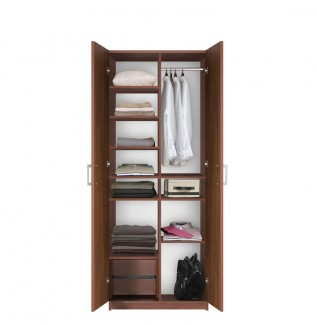 Bella Wardrobe Storage Closet - Storage Galore!