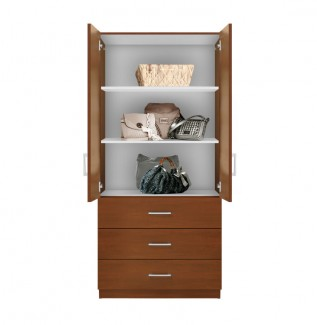 Alta 3 Drawer Armoire with Full Width Shelves