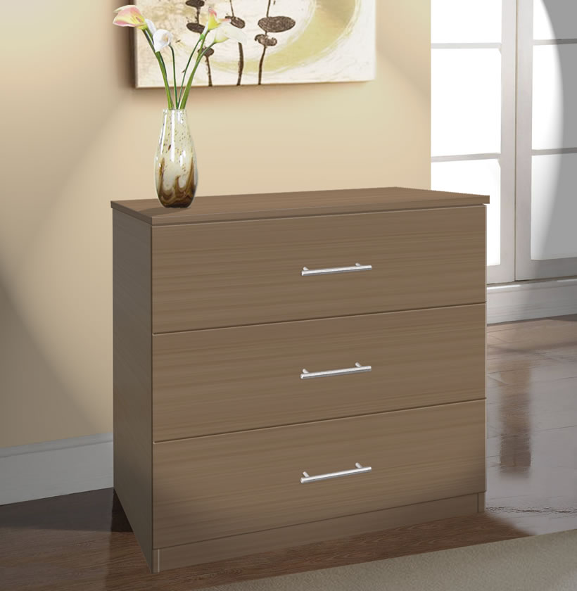 Dressers For Small Bedrooms: Modern 3 Drawer Dresser