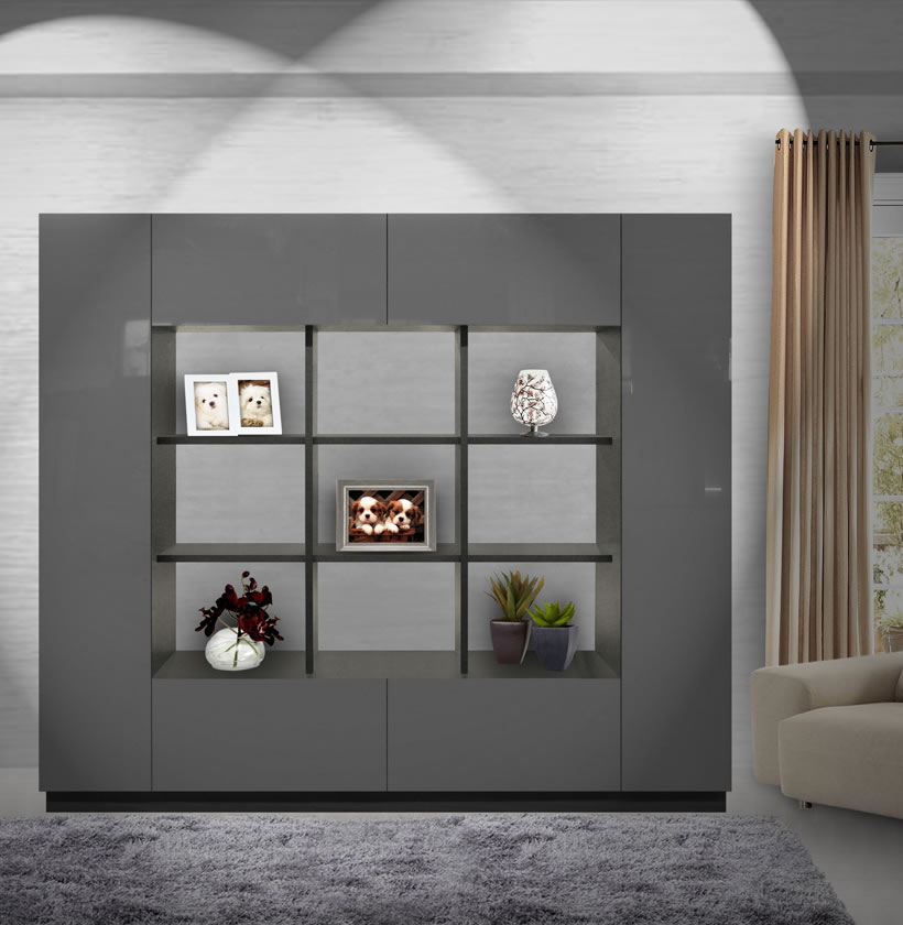 Harrison Bookcase Modern Cube Bookshelves Surrounded By Storage Contempo Space