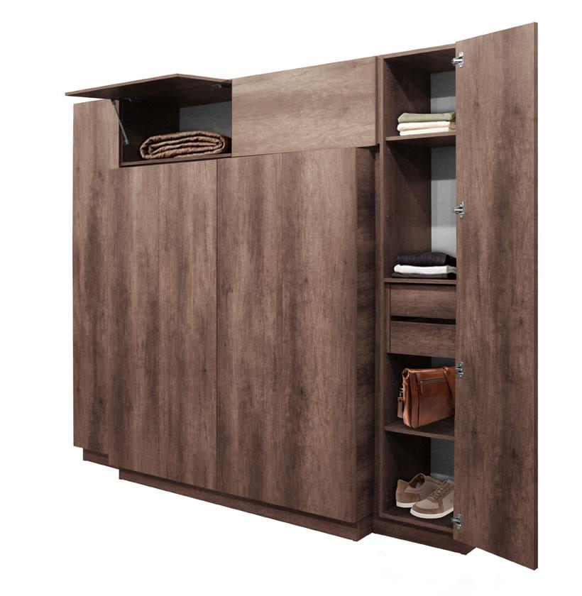 Hawthorne Wardrobe Closet Desk Instant Home Office