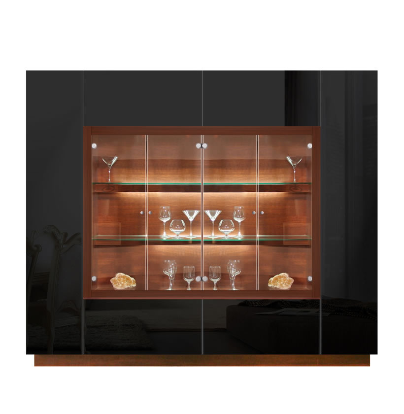Jamison Display Cabinet Modern Glass Curio Concealed