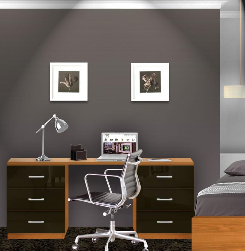 Lafayette Computer Desk - Contemporary 6 Foot Desk ...
