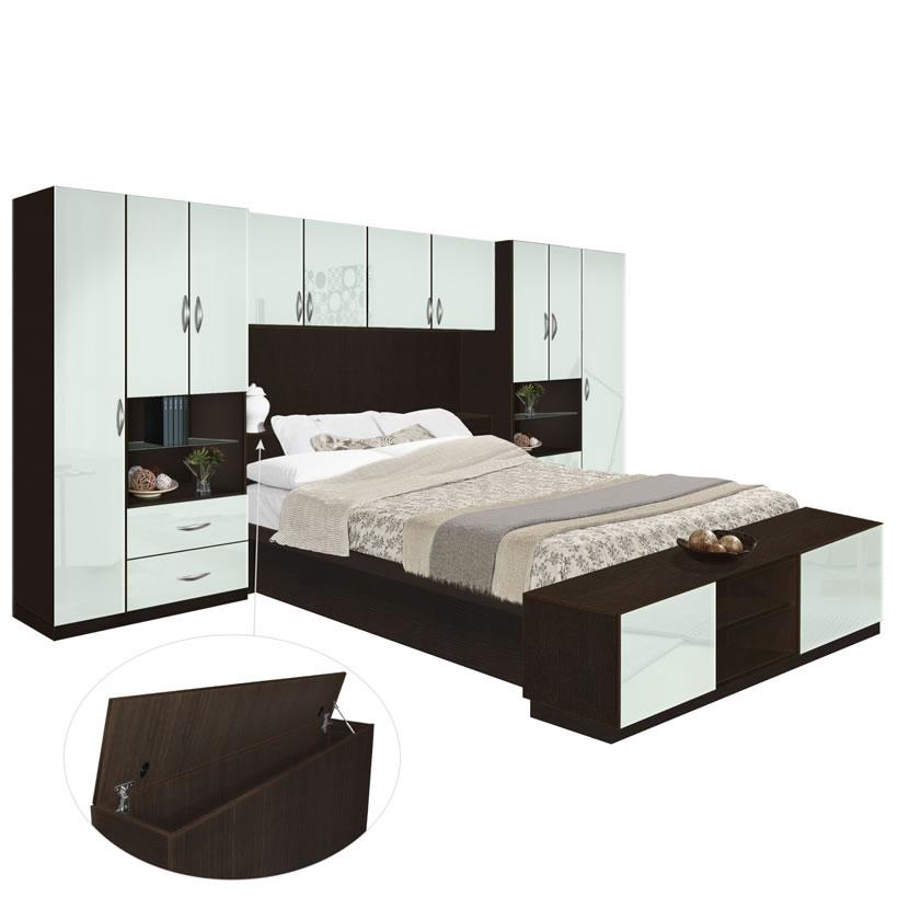 Lincoln Pier Wall Platform Bed W Storagemax Headboard