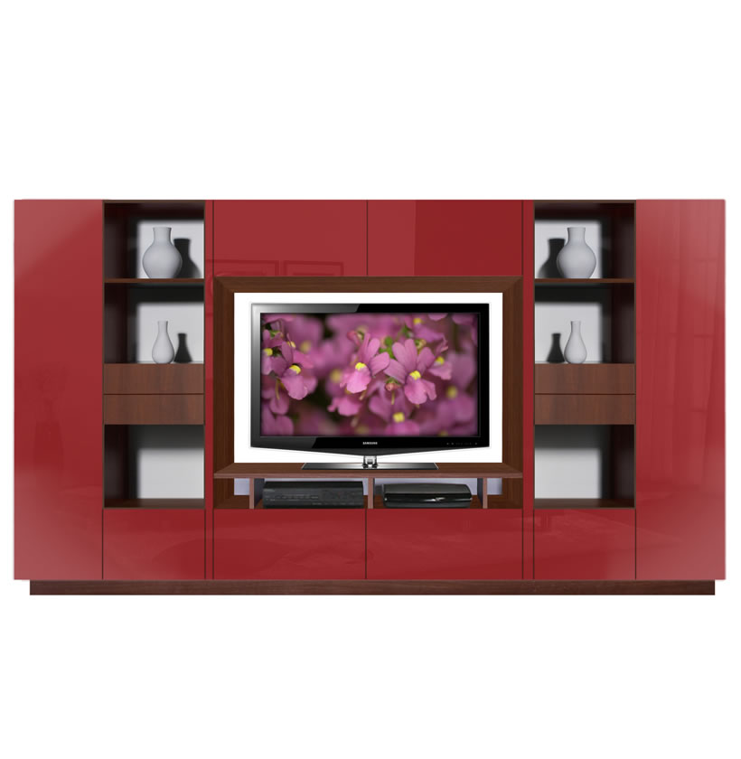 Lucus Entertainment Wall Unit W Open Space And Closed
