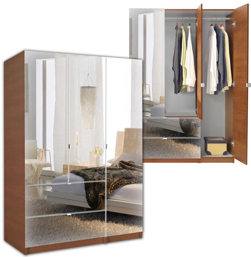 Alta Wardrobe Armoire - 3 Door Armoire Right Opening ...