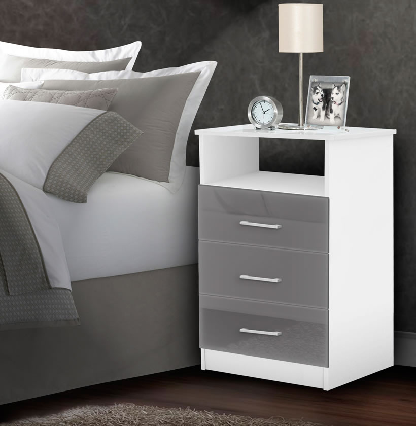 Freedom Nightstand Tall Nightstand With 3 Drawers Open