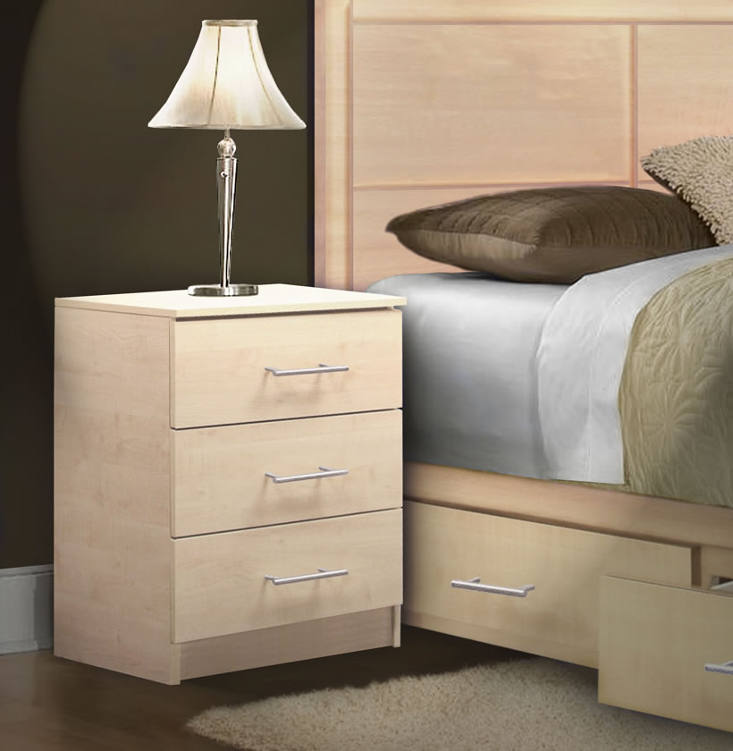 Modern Night Stand With 3 Drawers Contempo Space