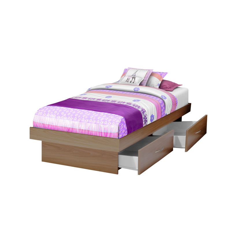 Twin storage platform bed with 4 drawers contempo space - Best platform beds with storage ...
