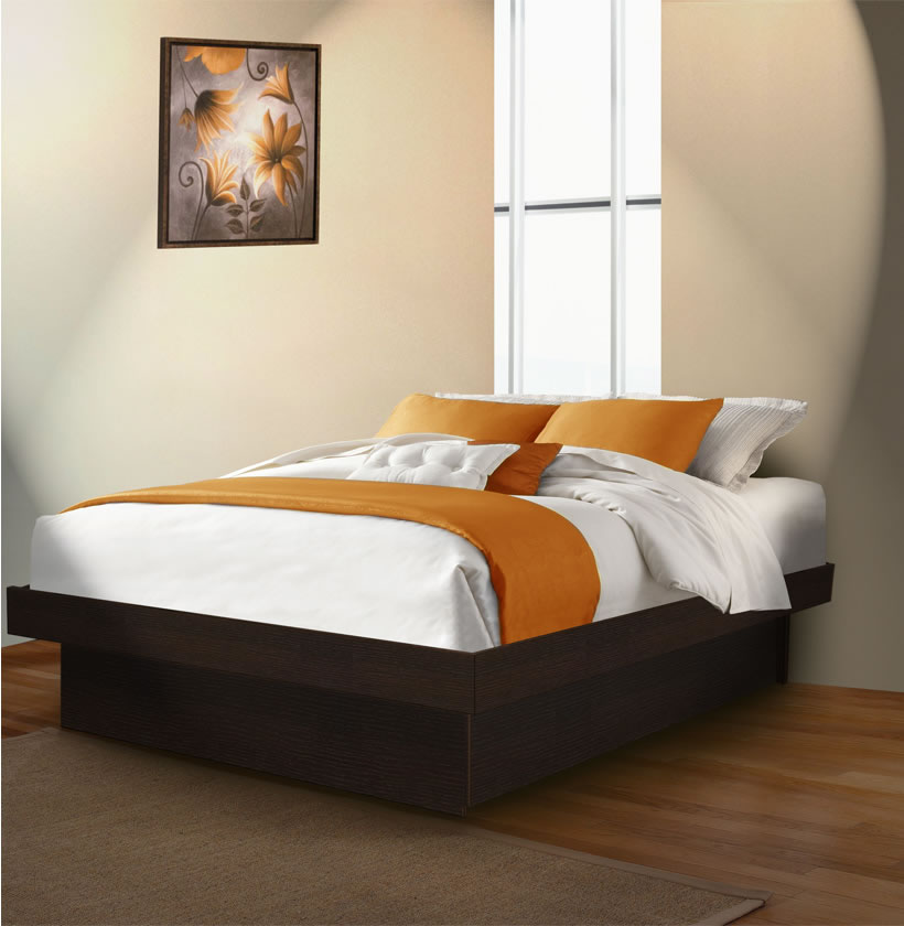 Full Size Platform Bed Contempo Space