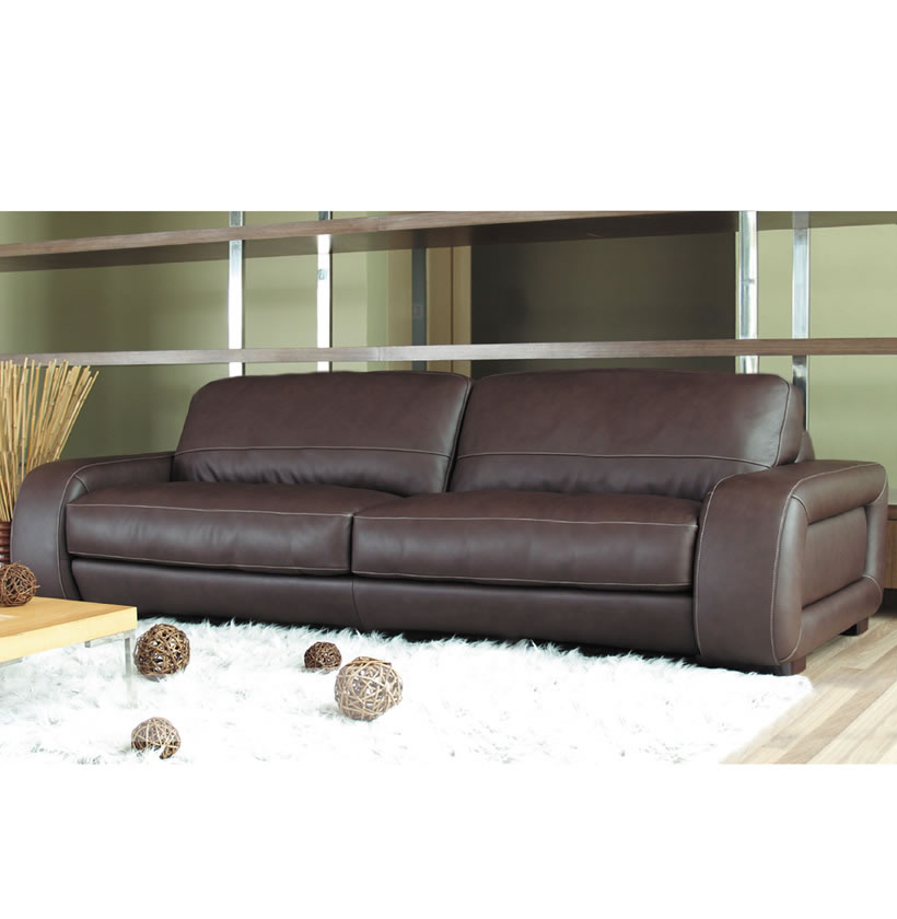 Swell Diego Sofa 7 Foot Leather Sofa In Brown Leather Or Creme Beatyapartments Chair Design Images Beatyapartmentscom