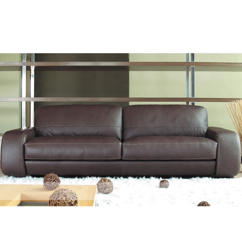 Tremendous Diego Sofa 7 Foot Leather Sofa In Brown Leather Or Creme Beatyapartments Chair Design Images Beatyapartmentscom