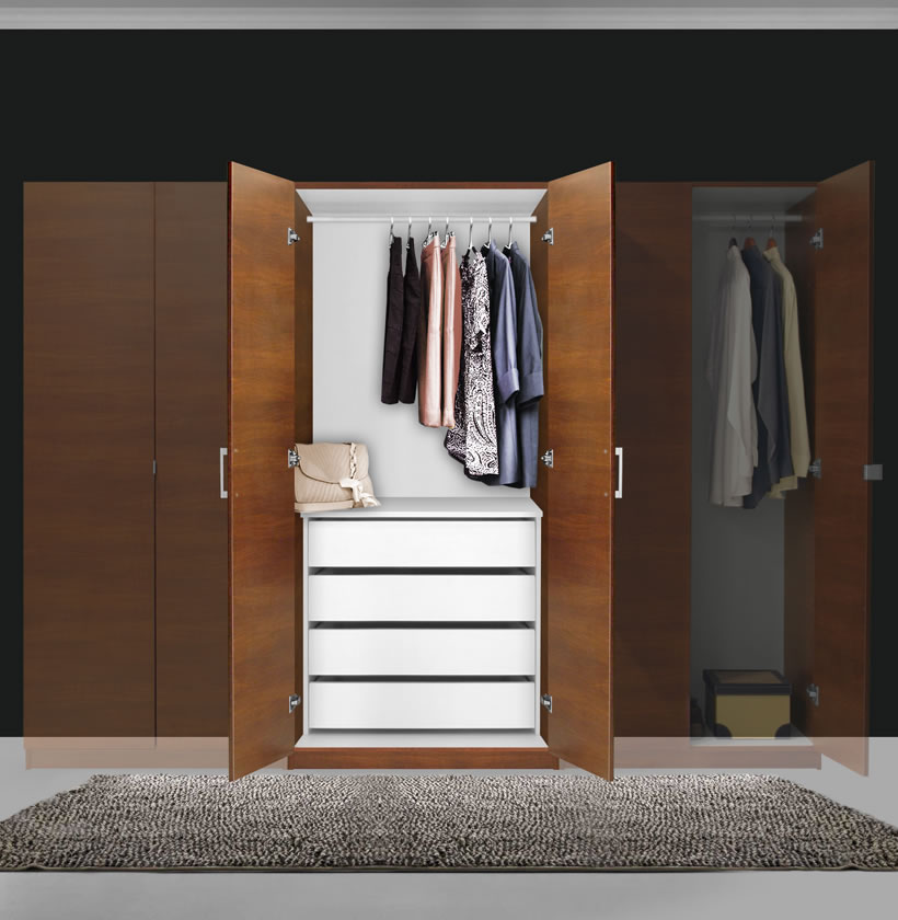 Alta Wardrobe Closet - 2 Doors, 4 Interior Drawers ...