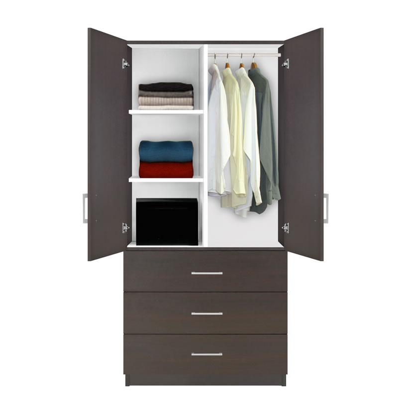 Alta Wardrobe Armoire - 3 Drawer Wardrobe, Shelves ...