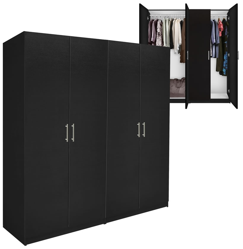 Alta 4 Door Wardrobe Closet Basic Package Free Standing