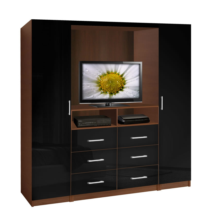 Aventa tv wardrobe wall contempo space for Bedroom designs with tv and wardrobe