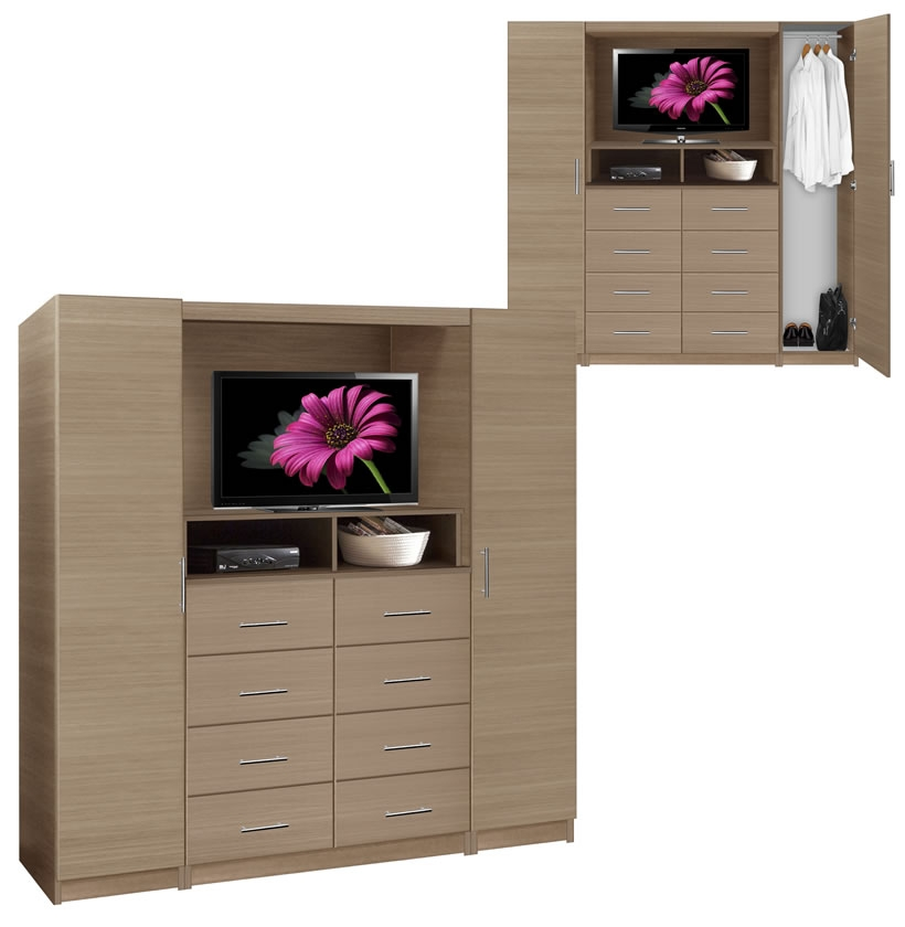 Aventa Tv Chest Chest With Tv Space 8 Drawers Wardrobe