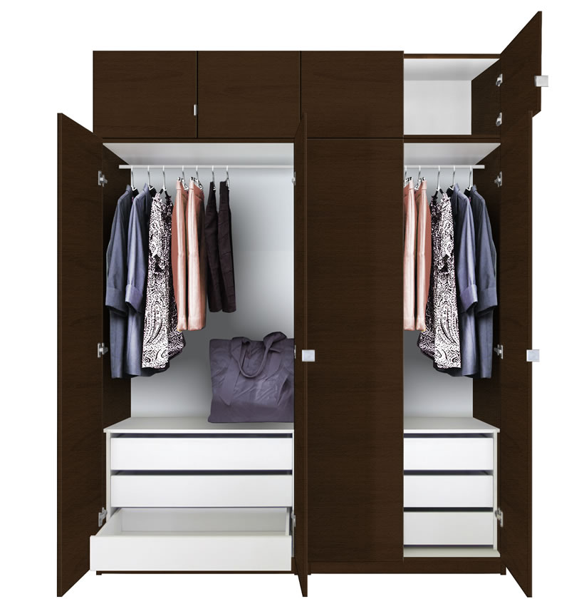 Alta Tall Wardrobe Closet Package - 6 Drawer Wardrobe ...