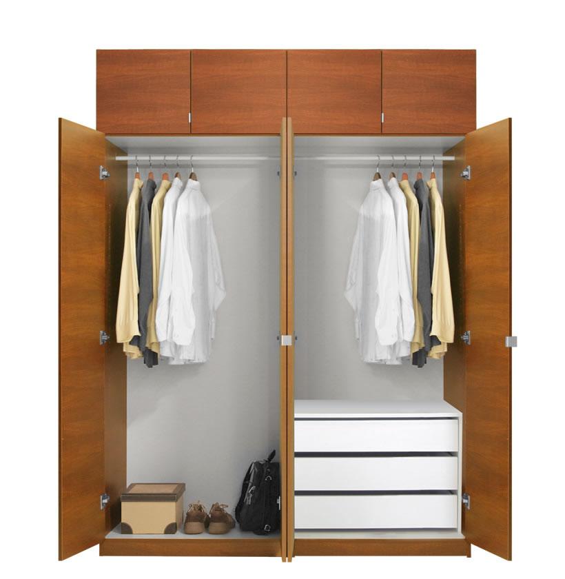 Alta Wardrobe Closet Package 3 Drawer Wardrobes Tall