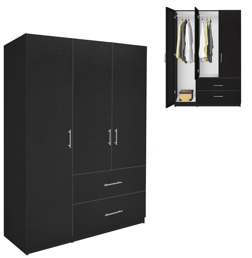 Alta Wardrobe Armoire Package 3 Door 2 Drawer Package