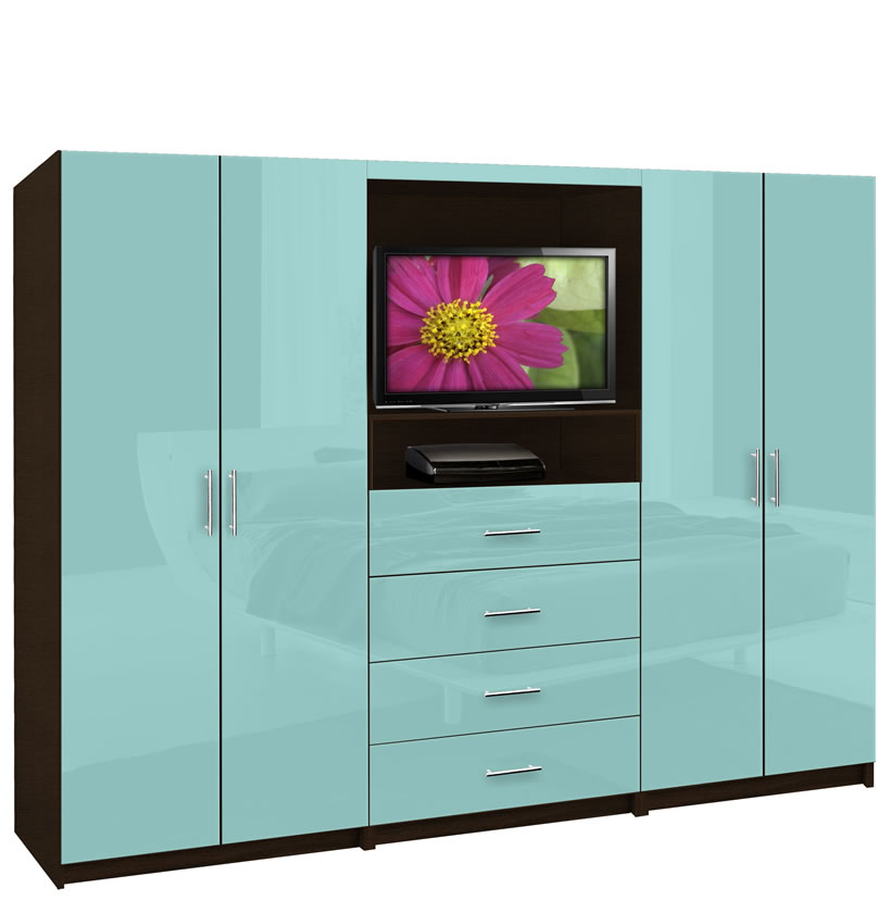 Aventa wardrobe tv cabinet double door wardrobe cabinets for Bedroom designs with tv and wardrobe