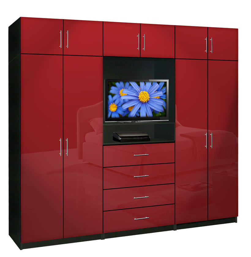 Aventa wardrobe tv cabinet x tall extra wardrobe cabinet for Bedroom designs with tv and wardrobe