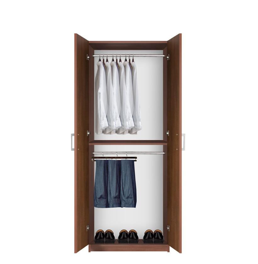 Bella Double Hanging Wardrobe Closet - 2 Hang Rods