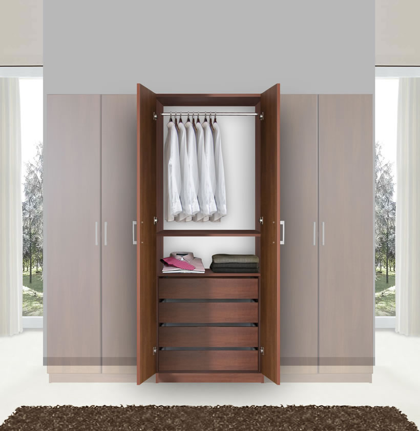 bella hanging wardrobe armoire closet contempo space. Black Bedroom Furniture Sets. Home Design Ideas